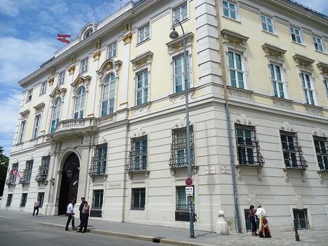 Le bâtiment de la Chancellerie fédérale à Vienne