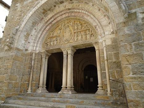 Le tympan du portail de l'église abbatiale St-Pierre de Carennac