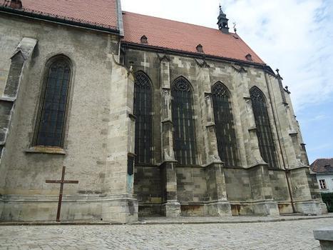 La cathédrale (gothique) Saint-Martin, de Bratislava, était le lieu de couronnement des anciens rois de Hongrie