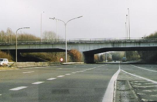 Familleureux bridge on the E19 motorway Brussels-Mons