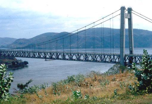 Matadi Suspension Bridge over the Congo (in former Zaire)