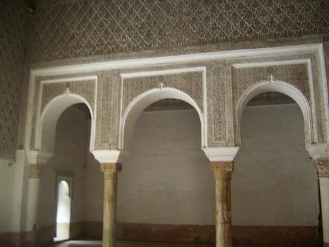 L'entrée de la médersa Ben Youssef à Marrakech