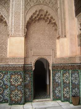 Le grand patio de la médersa Ben Youssef à Marrakech