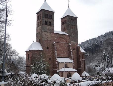 L'église abbatiale St Léger, à Murbach (Haut-Rhin)
