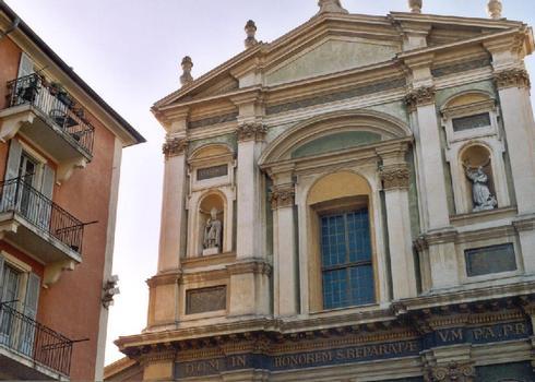 La cathédrale Sainte-Reparate, dans la vieille ville de Nice (Alpes-Maritimes)