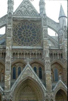 Westminster AbbeyFaçade de l'entrée nord