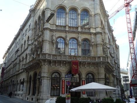 Le palais Ferstel sur la Herrengasse (Vienne)