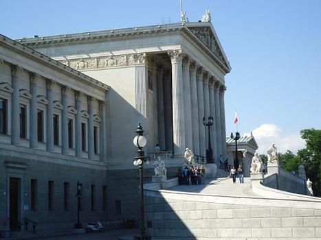 Le bâtiment du Parlement autrichien, à Vienne, sur le Dr-Karl-Lueger-Ring