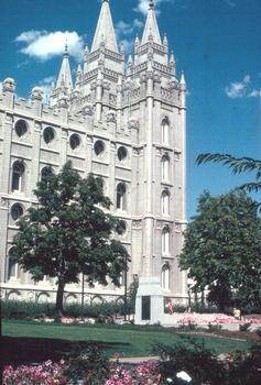 Salt Lake Temple, Hauptkirche der Mormonen in Salt Lake City, Utah