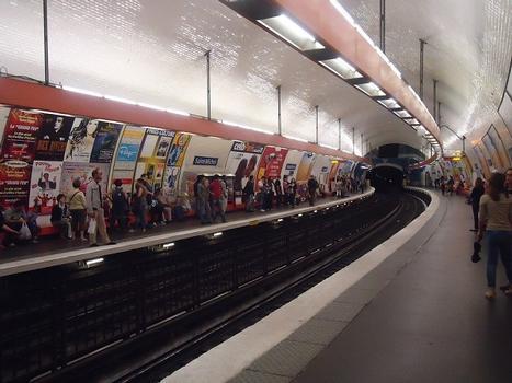 La station de métro Saint-Michel (Paris 5e)