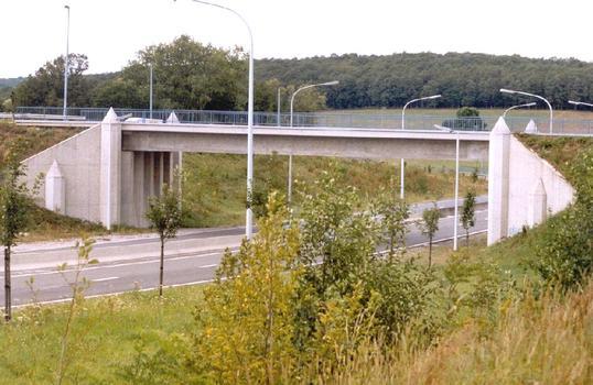 Le pont de Tromcourt sur la N5 à l'entrée de Mariembourg (commune de Couvin): travée unique et décoration originale de la corniche: Le pont de Tromcourt sur la N5 à l'entrée de Mariembourg (commune de Couvin):  travée unique et décoration originale de la corniche