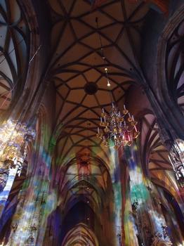 Les voûtes et l'intérieur de la cathédrale Saint Etienne