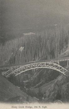 Stony Creek Bridge Postcard published by J. Howard A. Chapman, Victoria, B. C.