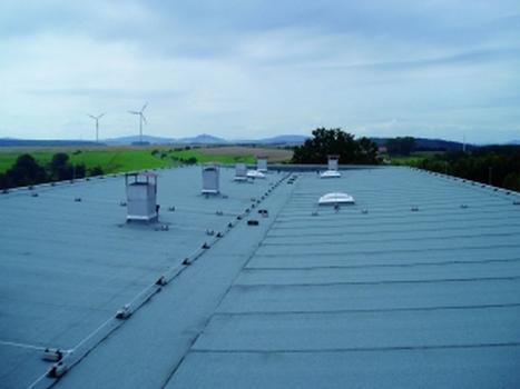 Die fertigstellte Dachfläche