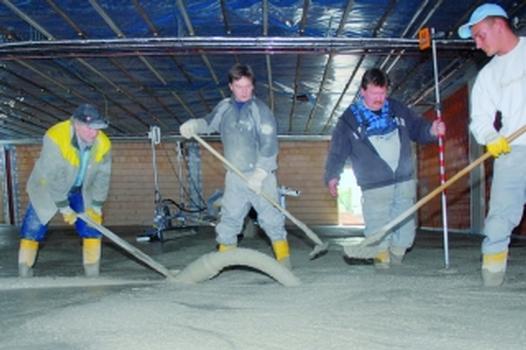 Fugenlose Bodenplatte aus ConFormat®-Beton