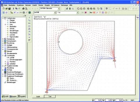Das Programm SCN berechnet beliebige Scheibentragwerke und wandartige Träger (Grafik, Screenshot: Friedrich + Lochner)