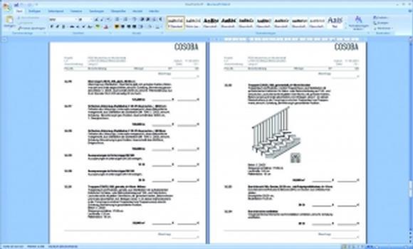 Die Formatvorlagen sorgen von Anfang an für eine perfekte architektengerechte Ausgabe aller wichtigen Dokumente