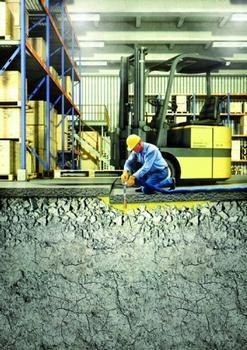 Prinzip der Betonboden-Hebetechnik (Floorlift®-Methode): Betonbodenanhebung