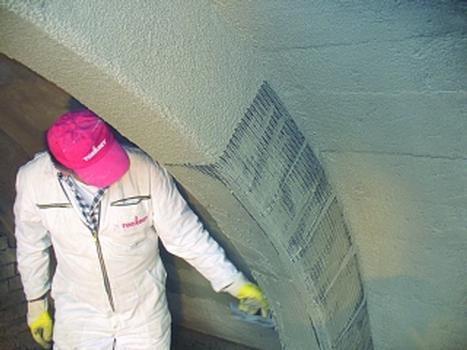 Verstärkung mit Textilbeton beim Umbau des Finanzamts Zwickau