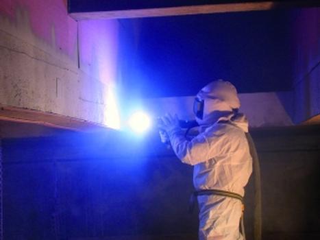 Spritzverzinkung: der Beton wird grosflächig mit einer aufgespritzten Zinkschicht versehen