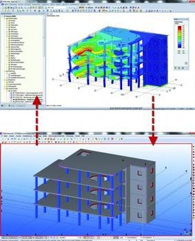 Direkter Datenaustausch zwischen Dlubal-Programmen und Tekla Structures
