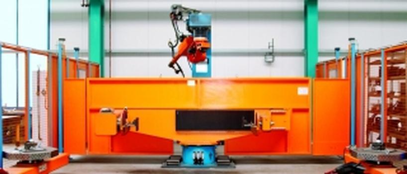 Moderne Technik für den Stahl- und Metallbau: Cloos Schweisrobotersystem