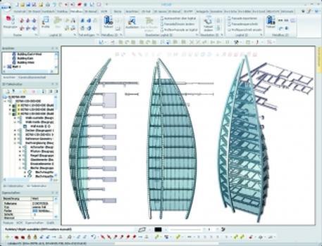 HiCAD 2011: High-End-Funktionen für den Stahl- und Metallbau (Screenshot: CAD Planung Matei)