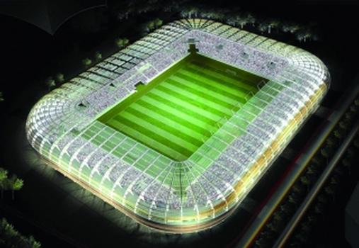 Modell des Grenoble Stadions