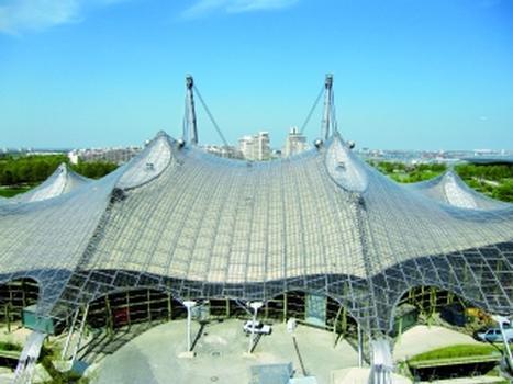 Sanierung des Membrandaches der Olympiahalle München