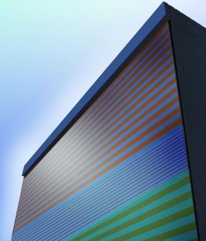 Nadelstreifen für die Fassade