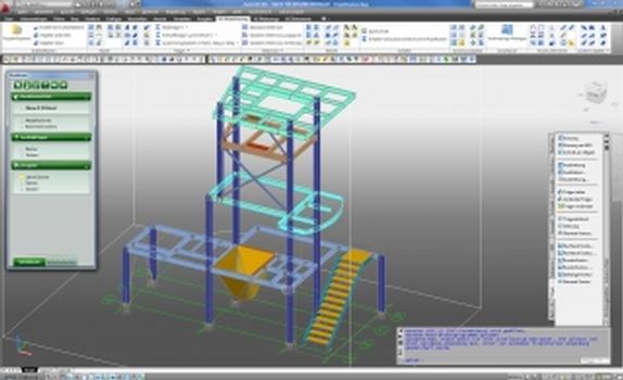 Der Projekt-Explorer der neuen Version 2011 von GRAITEC Advance Steel (Screenshot: GRAITEC)