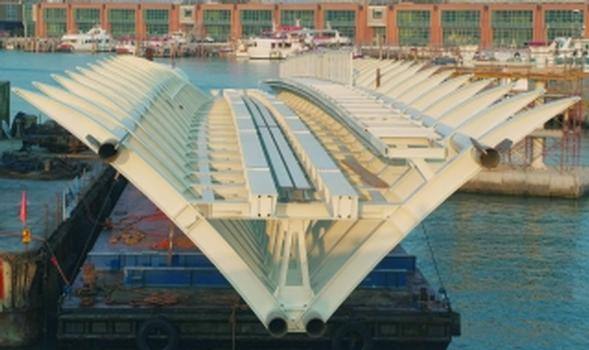 Stahlkonstruktion für den Automated People Mover in Venedig