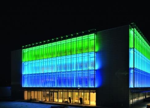 Der iGuzzini-Würfel ermöglicht interessante Lichteffekte
