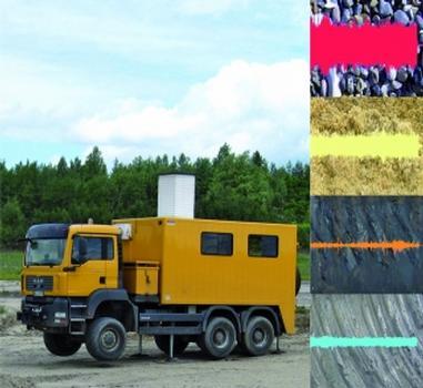 Der akustische Geo-Scanner bestimmt geogene Materialien, z. B. bei Pfahlgründungen (Bild: TU Clausthal, Institut für Bergbau)