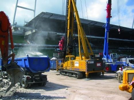 Umbau des Weserstadions in Bremen.