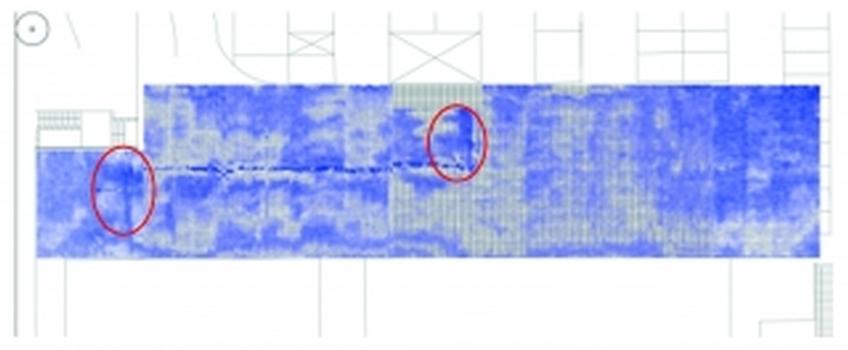 Feuchtescan auf einem Parkdeck – Volumenscan der gesamten Fläche