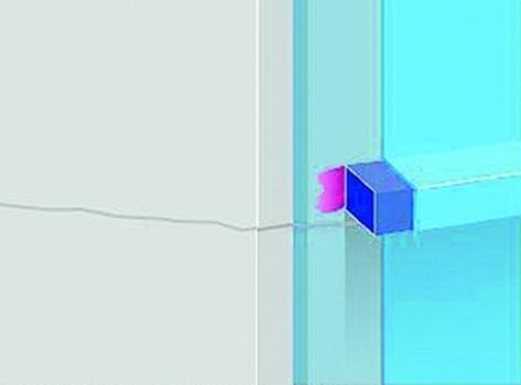 Bild1. Abtropfprofil Typ A30 für senkrechte Flächen, gegen Fassadenverschmutzungen