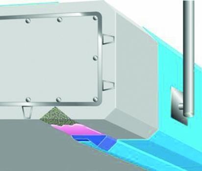 Bild2. Tropfkantenprofil Typ T4 für die Sanierung von Wassernasen
