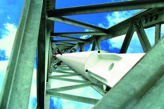 Flexible, schnell zu errichtende Windmessmasten ermöglichen Messungen auf Rotor-Nabenhöhe