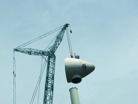 Der Terex® CC 9800 verfügt über eine maximale Hakenhöhe von 222 m (Foto: Terex Demag)