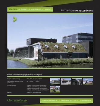 Abb. 1: Blick auf www.faszination-dachbegruenung.de
