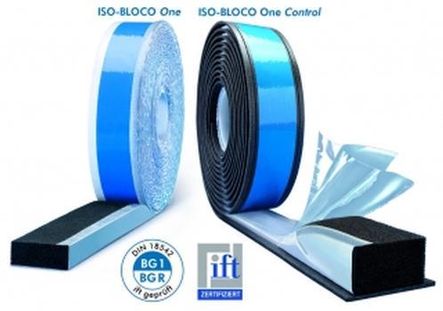 Die Multifunktionsdichtbänder ISO-BLOC One (links) und ISO-BLOCO One Control (rechts)