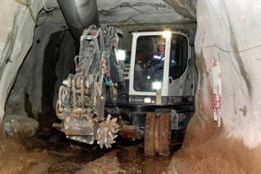 Der TW110-T von Terex erfüllt alle Anforderungen für die selektive Gewinnung in der Grube Clara