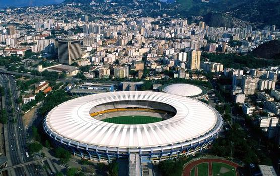 Rendering des Entwurfes des neuen Daches für das Maracanã-Stadion.