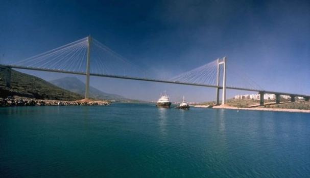 Evripos-Brücke in Griechenland.