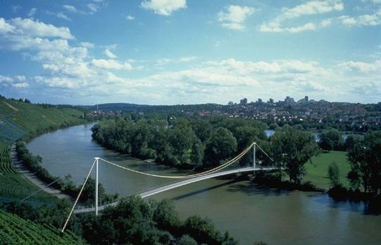 Passerelle sur le Lac Max Eyth à Stuttgart