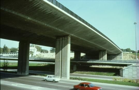 Puente Eje Cuzco-Barajas, M-30, Madrid