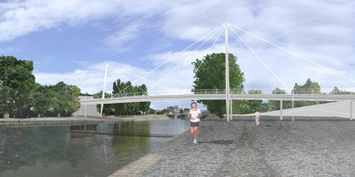 Brücke über den Canal Saint Denis in Aubervilliers.