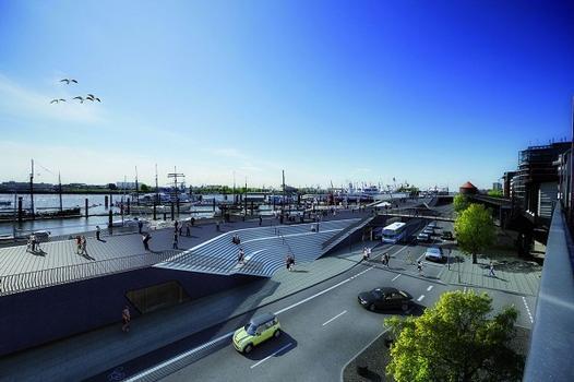 Hochwasserschutz Hamburg Niederhafen