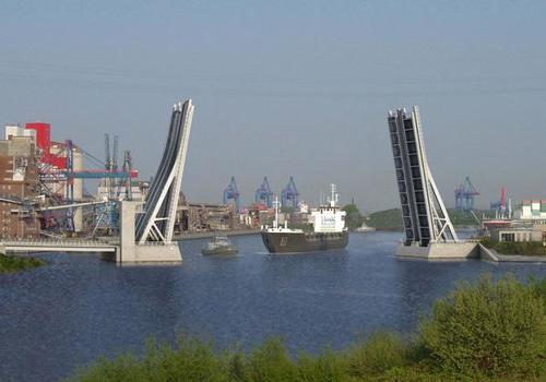 Pont basculant sur la Rethe, Rethe Bascule Bridge, Rethe-Klappbrücke